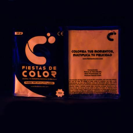 Polvo de colores fluorescentes 300 bolsas
